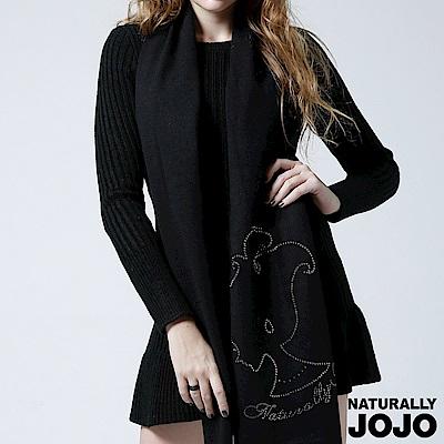 【NATURALLY JOJO】收腰典雅針織洋裝(黑)