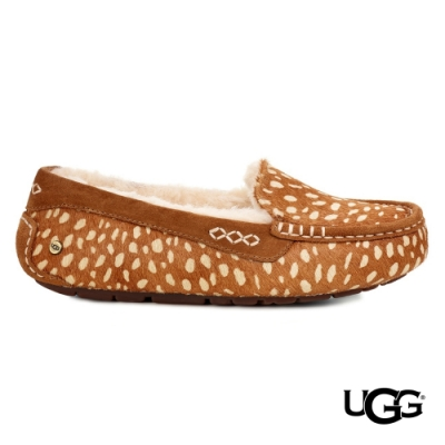 UGG女士 Idyllwild 小鹿斑比毛毛樂福鞋