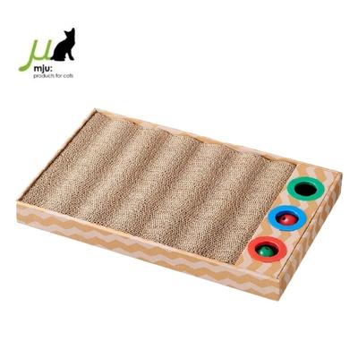 日本Gari Gari Wall(MJU)可換式波浪貓玩具+抓板(AIM-CAT015-2) (購買第二件贈送寵鮮食零食1包)