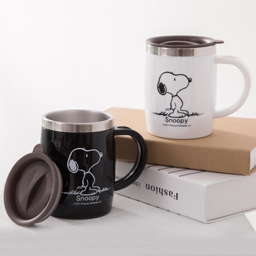 【優貝選】SNOOPY 史努比經典不銹鋼馬克杯/辦公杯(420ML)