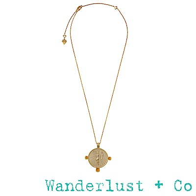 Wanderlust+Co黎明女神艾歐絲項鍊 - 金色