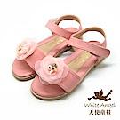天使童鞋  精緻水鑽茶花涼鞋 J8010-08 粉