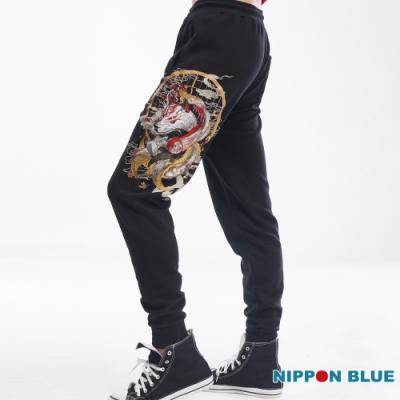 日本藍BLUE WAY-進口金標-五輪空之卷犬狼運動褲