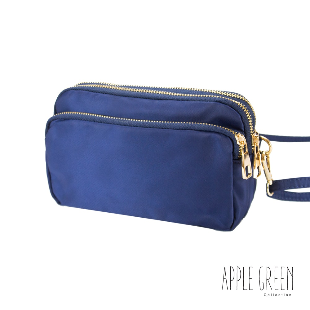 Apple Green 輕量尼龍斜背包(藍)