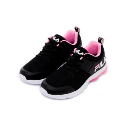 FILA 女性輕量慢跑鞋-黑 5-J905T-051