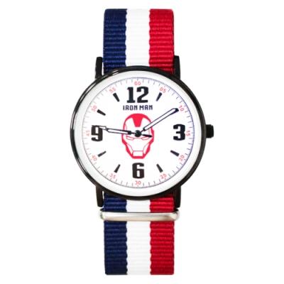 Disney迪士尼 Marvel漫威鋼鐵人超薄鏡面織紋手錶40mm