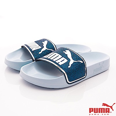 PUMA童鞋 超輕量止滑拖鞋款 TH67324-02藍(大童段)