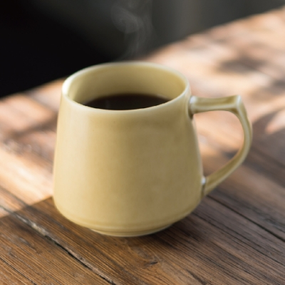 Cores KIKI美濃燒馬克杯|瓷製可微波 (黃) C810YL