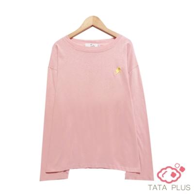 閃電刺繡落肩上衣 TATA PLUS-(XL/3XL)