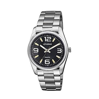 LICORNE 力抗錶 都會款 簡約風格手錶 黑×銀/36mm