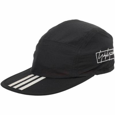 Y-<b>3</b> REVERS LOGO 字母刺繡條紋棒球帽(黑色)