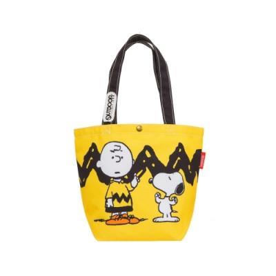 【OUTDOOR】SNOOPY聯名款購物袋-黃色 ODP19F04YL
