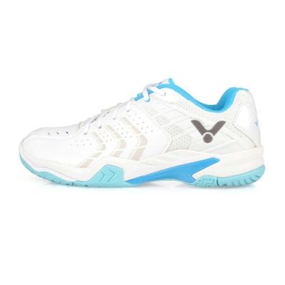 VICTOR 男 專業羽球鞋 白水藍灰
