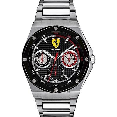 Scuderia Ferrari 法拉利 奔馳日曆手錶(FA0830535)-黑x42mm