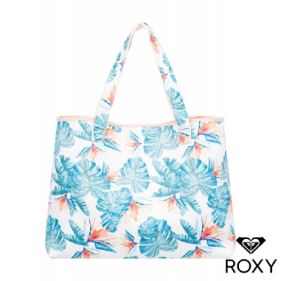 【ROXY】ALL THINGS PRINTED 雙面肩背包 白