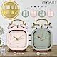 (2入組)日本AWSON歐森 復古靜音小鬧鐘/時鐘(AWK-6007)Pink粉/Gray灰 product thumbnail 1