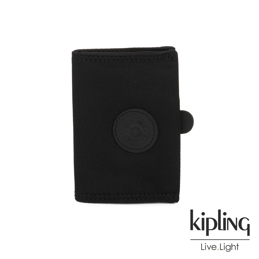Kipling 極致低調黑暗釦卡夾-CARD KEEPER