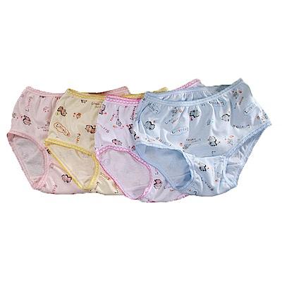 女童印花三角內褲(四件一組)k50679 魔法Baby
