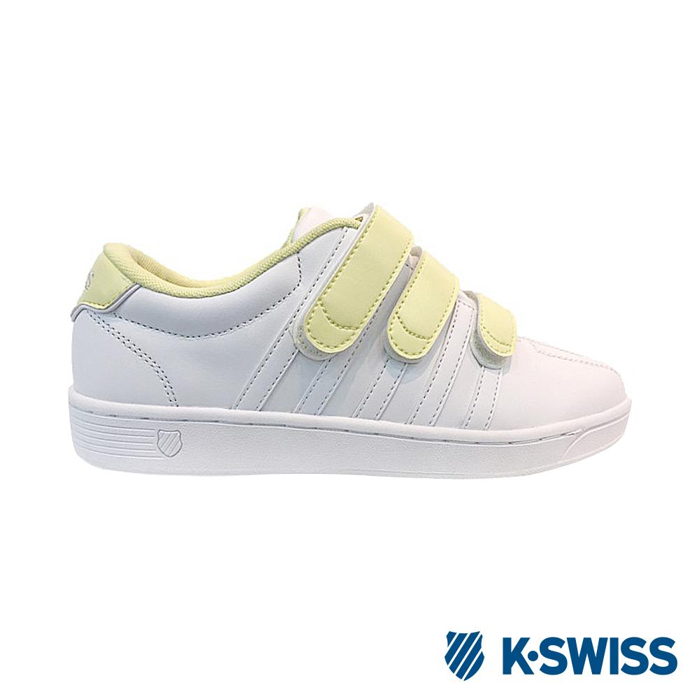 K-SWISS COURT PRO II STRAP休閒運動鞋-女-白/鵝黃