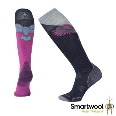 SmartWool 女 PhD Free Ski滑雪輕量減震高筒襪 深海軍藍