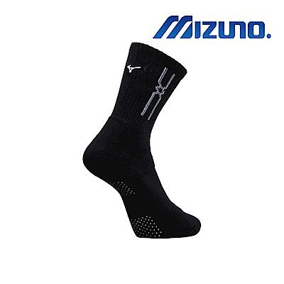 MIZUNO 男運動厚底襪(加大尺寸) 5入 黑X白 32TX900991
