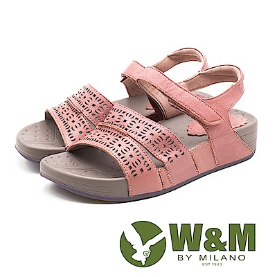 W&M 幾何簍空花紋厚底涼鞋 女鞋 - 粉(另有綠)