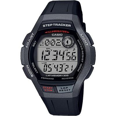 CASIO StepTracker計步數位男錶(WS-2000H-1A)灰X黑/23mm