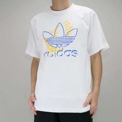 Adidas TREFOIL ART TEE 男 短袖上衣 白
