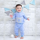 【Deux Filles有機棉】棉絨兒童休閒運動褲-藍色