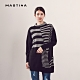 【MASTINA】撞色條紋長版-針織衫(三色) product thumbnail 1