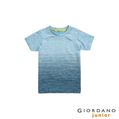 GIORDANO 童裝G-Motion 涼感T恤 - 91 仿段彩海軍藍