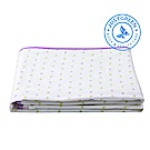 英國 JustGreen 嬰兒純棉紗布防漏尿墊(雙色心型紫邊)大尺寸 70 x 120cm