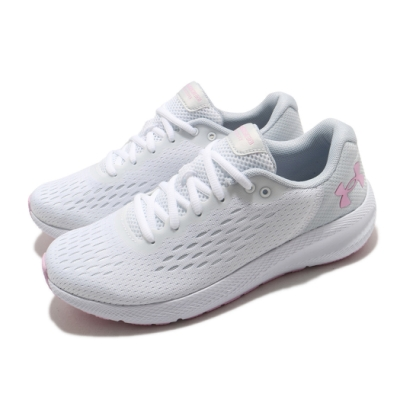 UA 慢跑鞋 Charged Pursuit 2 女鞋 輕量 透氣 舒適 避震 路跑 健身 白 粉 3023866101