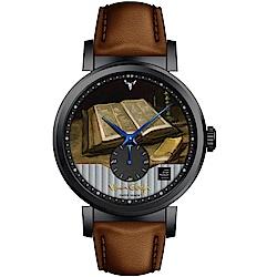 梵谷Van Gogh Swiss Watch小秒盤梵谷經典名畫男錶(C-BLMS-31)