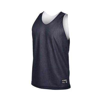 FIRESTAR 男雙面訓練籃球背心-球衣 無袖上衣 運動 吸濕排汗 台灣製 B1707-93 丈青白
