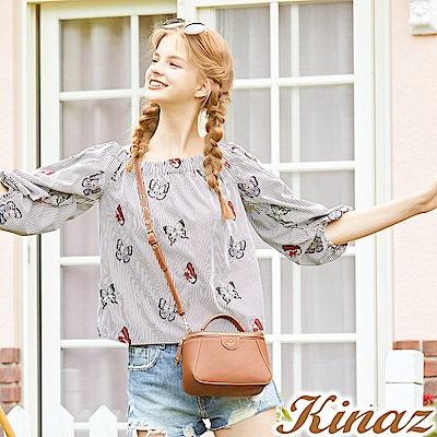 KINAZ 花園舞者兩用斜背相機包-蝴蝶系列