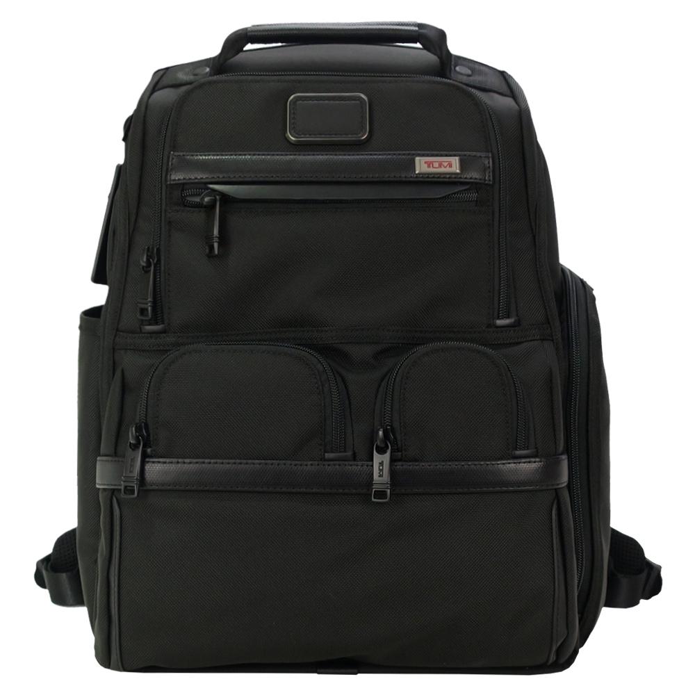 TUMI ALPHA 3 緊湊多功能後背包(適用15吋筆電)(附可拆卸公文內袋)-黑