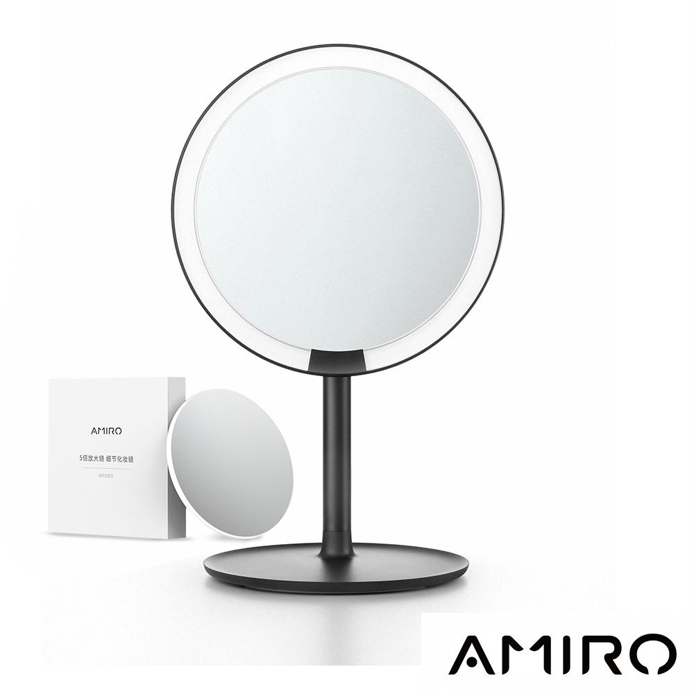 AMIRO Mini 高清日光化妝鏡禮盒組 - 暗夜薔薇黑