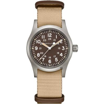 Hamilton 漢米爾頓 卡其野戰系列軍風機械錶 H69439901