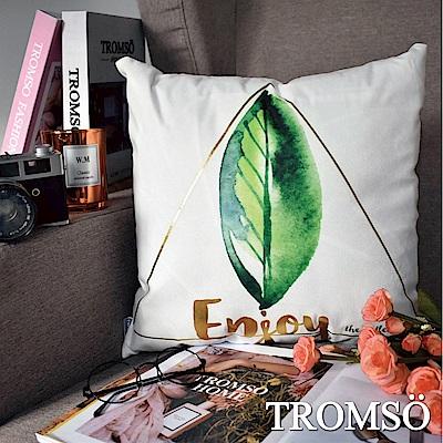 TROMSO 風尚北歐抱枕-綠葉金三角