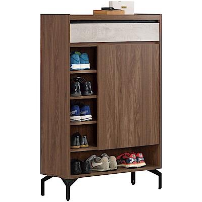 文創集 比瑟夫時尚2.7尺單門單抽鞋櫃/玄關櫃-80.5x30.5x120cm免組