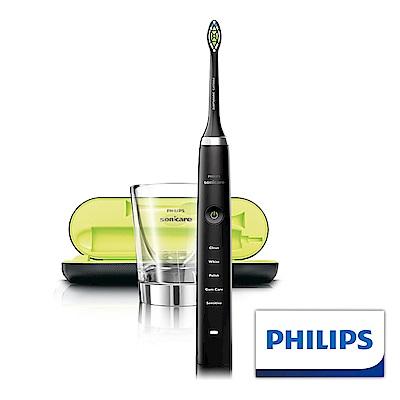 【Philips 飛利浦】鑽石靚白音波震動牙刷HX9352(黑)