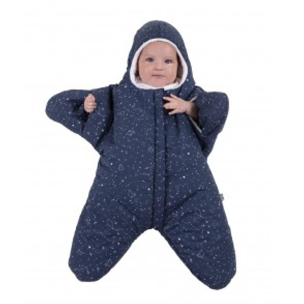 【小海星標準版-午夜藍】鯊魚咬一口BabyBites純棉嬰幼兒睡袋