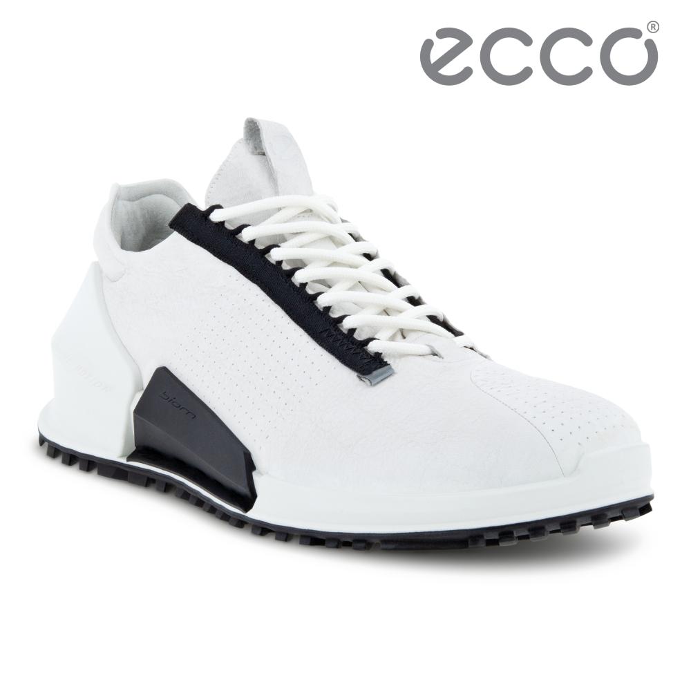 ECCO BIOM 2.0 M 皮革透氣極速運動鞋 男鞋 白色