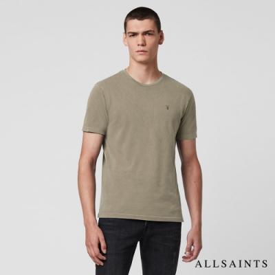 ALLSAINTS TONIC OSSAGE 漸層單色純棉短袖T恤-灰綠
