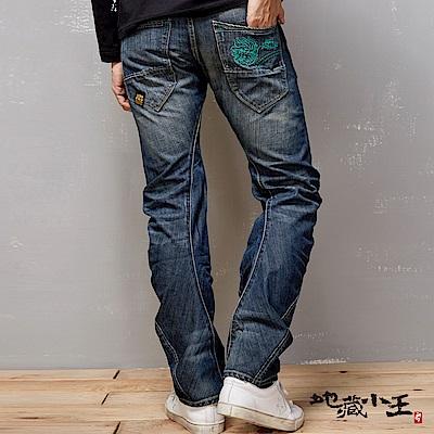 地藏小王 BLUE WAY 地藏刷色3D直筒褲