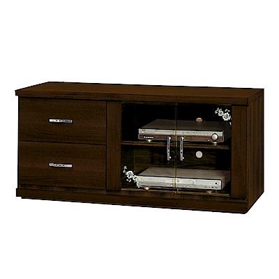 綠活居 華格納時尚4尺木紋電視櫃/視聽櫃-121x48.5x54.5cm-免組