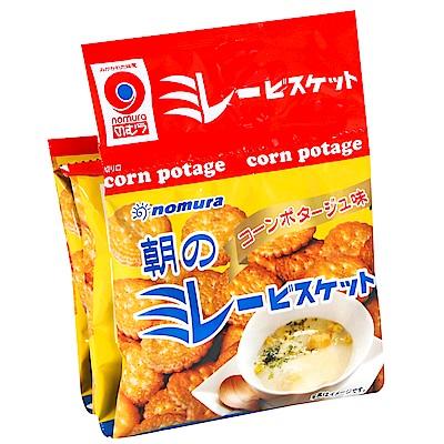 野村煎豆 4連美樂圓餅[玉米濃湯風味] (120g)