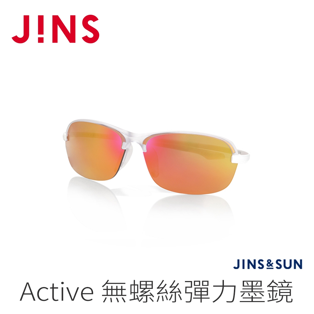 JINS&SUN Sports 無螺絲彈力運動墨鏡(AMRN21S135)透明白