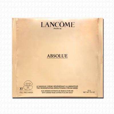 LANCOME蘭蔻 絕對完美24K黃金玫瑰霜面膜15g